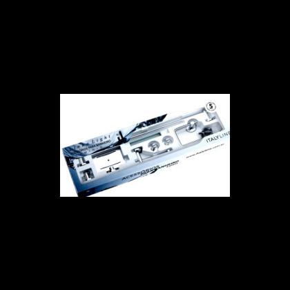 Kit Banho Linha Ligth em Aluminio 6 Peças Italy Line