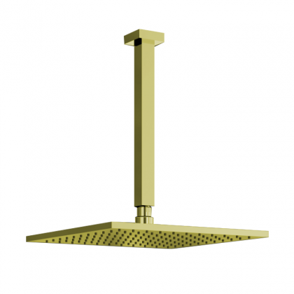 Chuveiro Articulado Teto Metal 20cm Dourado 3150 1/2 DV640 Linha Eros 640 Fani