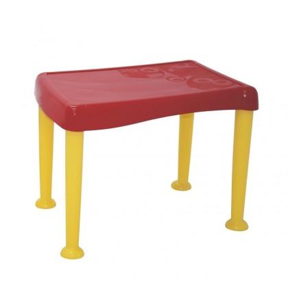 Mesa Infantil Tramontina Monster em Polipropileno Vermelho com Base Amarela