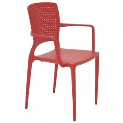 Cadeira Com Braços Safira Vermelho 92049/040 Tramontina