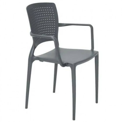 Cadeira Com Braços Safira Grafite 92049007 Tramontina