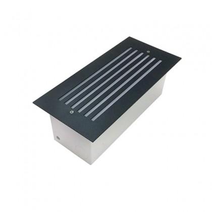 Luminária balizador de embutir mod 301 com grade MEGALUX