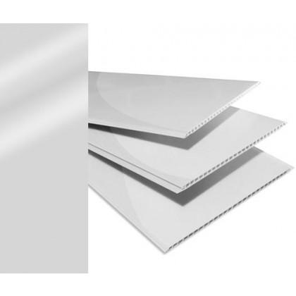 Forro PVC Branco Brilho 6x20x008 Régua com 1,20M² Plasforro á Vista