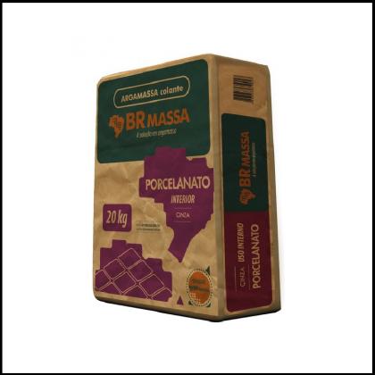 Argamassa Para Porcelanato Interno 20kg Cinza BRMASSA