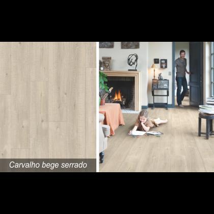 Piso Laminado Impressive Carvalho Bege Serrado - Quick-Step - M²