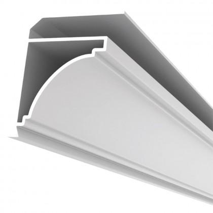 Rodaforro Perfil F PVC Branco 6 Metros Quimiplast