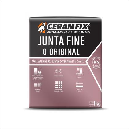Rejunte Junta Fine 1kg Platina Ceramfix