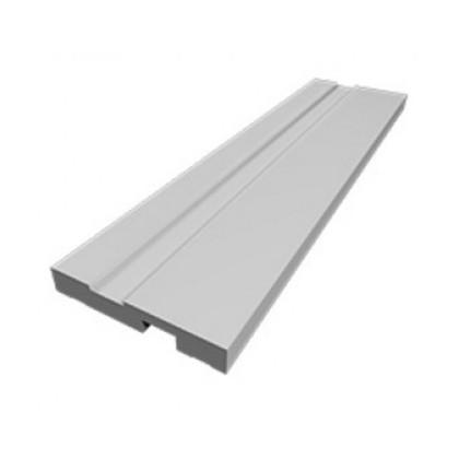 Rodape PVC branco  100X240X15 - Plasforro