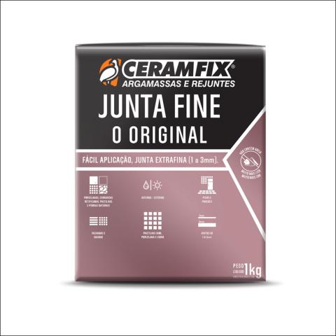 Rejunte Junta Fine 1kg Grafite Ceramfix